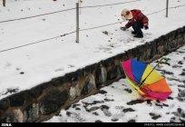 Iran, Tehran from above winter snow 06