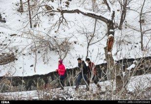 Iran, Tehran from above winter snow 07