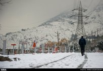 Iran, Tehran from above winter snow 08