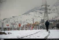Iran, Tehran from above winter snow 08