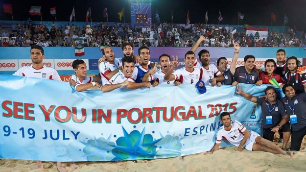 Iran's Beach Football Team - Qualified to Portugal 2015