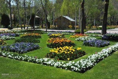 Alborz, Iran - Karaj, Chamran's Park Flower Garden 1