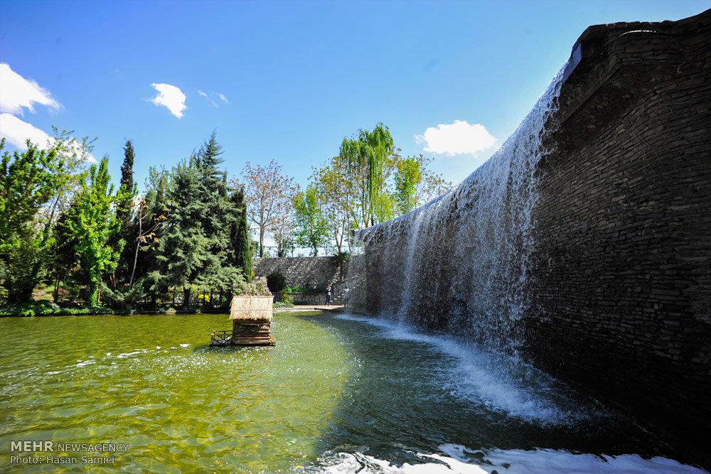 irans alborz province chamrans park flower garden  karaj   iran