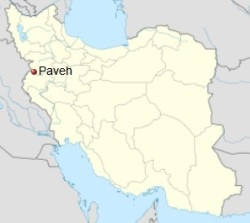 Kermanshah, Iran – Paveh Map