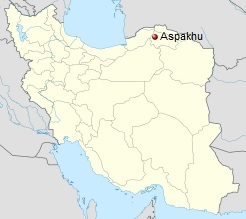 North Khorasan, Iran – Aspakhu Map