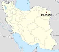 Razavi Khorasan, Iran - Mashhad - Map
