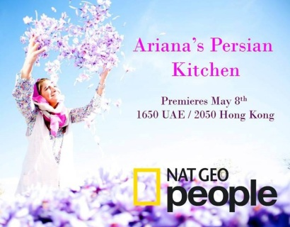 Iranian American Chef Ariana Bundy TV Show in NAT GEO People Ariana's Persian Kitchen 2