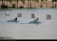 Tehran, Iran - Iran's rowing team training at Lake Azad Sports Complex 17