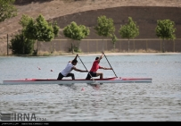 Tehran, Iran - Iran's rowing team training at Lake Azad Sports Complex 3