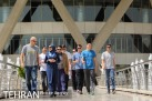 US national volleyball team visiting Milad Tower in Tehran (Photo credit: TPA)