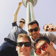 US national volleyball team visiting Milad Tower in Tehran (Photo credit: Instagram@maxwellholt)