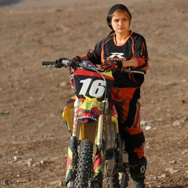 Behnaz Shafiei - Iran woman professional motocross 1