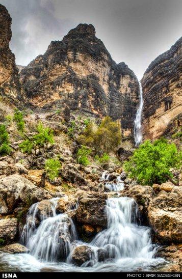 Iran Fars Province Tarom waterfall 2
