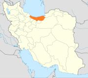 Mazandaran, Iran - Map