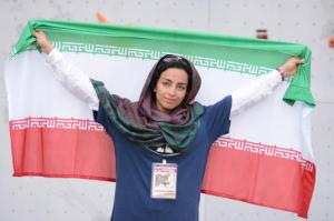 Abdollah Khani, Zohreh - Iranian ice climber - First Iranian female to win an international ice climbing medal 0