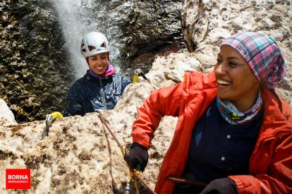 Abdollah Khani, Zohreh - Iranian ice climber - First Iranian female to win an international ice climbing medal 16