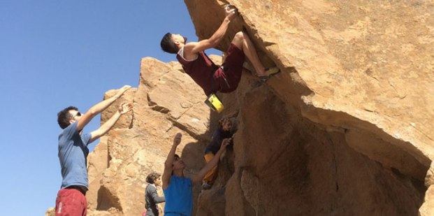 Iranian youth and junior national climbing team members training in Hamedan - 2015 July - 00