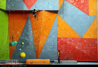 Iranian youth and junior national climbing team members training in Hamedan - 2015 July - 27