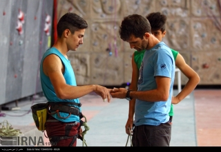 Iranian youth and junior national climbing team members training in Hamedan - 2015 July - 31