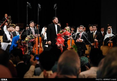 Tehran Symphony Orchestra and China Philarmonic Orchestra performing together on August 2015 in Tehran, Iran 20