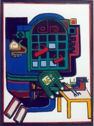 Iranian artist modern art Parviz Tanavoli art work