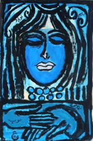 Iranian artist modern art Parviz Tanavoli Head of a Woman, 1961