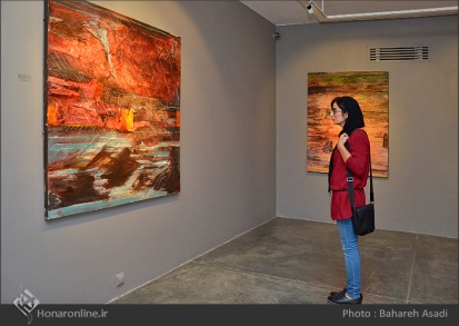 'Emigrants that carry away their memories' by Iranian artist Shirin Ettehadieh - Tehran 2015 - 00