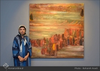 'Emigrants that carry away their memories' by Iranian artist Shirin Ettehadieh - Tehran 2015 - 01