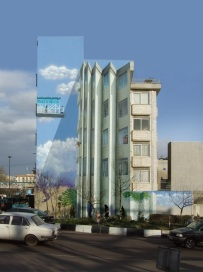 Mehdi Ghadyanloo - 2006 - Street art illusions - Future (or Folded Walls) - 01