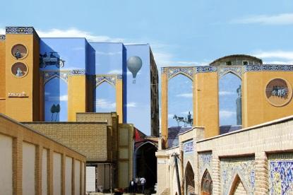 Mehdi Ghadyanloo - 2007 - Street art illusions - Old Memories of Tehran - 01