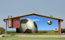 Mehdi Ghadyanloo - 2008 - Azadi Sport Complex (Football training yard) - 01 - (Photoshop composite)