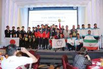 2015 Asian Canoe Polo Championship - Medal Ceremony - U21 Men - Chinese Taipei (Gold), Iran (Silver), Japan (Bronze)