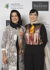 Iranian actresses Fatemeh Motamed-Arya and Negar Javaherian (Member of the international jury) at the Asia Pacific Screen Awards (APSA) in Australia - November, 2015 (Photo by APSA)