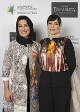 Iranian actresses Fatemeh Motamed-Arya and Negar Javaherian (Member of the international jury) at the Asia Pacific Screen Awards (APSA) in Australia - November, 2015 (Photo by APSA)