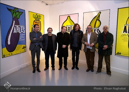Commemoration of Iranian artist Morteza Momayez with French Graphic Designer Michel Bouvet 20