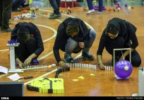 Domino competitions in Hamedan, Iran (2015) 00