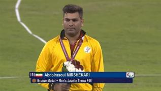 Mirshekari, Abdolrasoul – 2015 IPC Athletics World Championships – F46 Men's Javelin Throw – Bronze