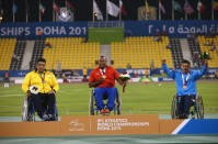 Mohammadyari, Ali - 2015 IPC Athletics World Championships - F56 Men's Discus Throw - Silver