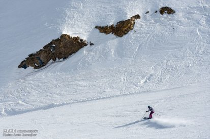 Iran Pooladkaf ski resort winter snow 10