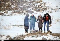 Winter joys - Snow sliding in Iran (Photo credit: Masoud Mohaghegh, ISNA)