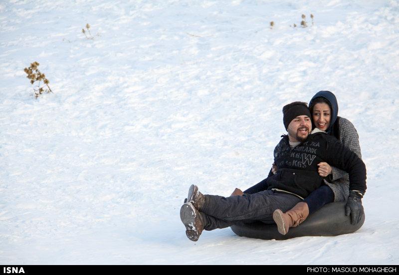 Winter joys - Snow sliding in Iran (Photo credit: Masoud Mohaghegh, ISNA)