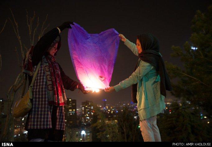 Chaharshanbe Suri - Ancient Fire Festival - Celebration in Iran, 2016 (Photo: Amir Kholousi / ISNA)