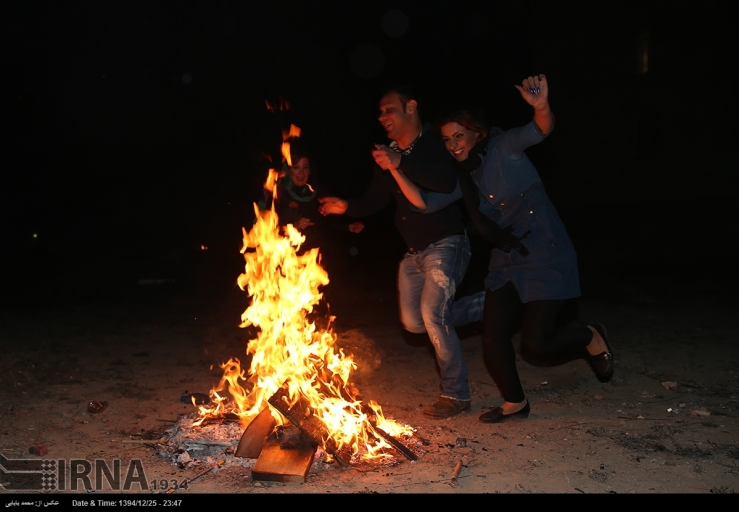 Chaharshanbe Suri - Ancient Fire Festival - Celebration in Iran, 2016 (Photo: IRNA)