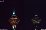 Milad Tower (Borj-e Milad) in Tehran, Iran - Earth Hour 2016 - Photo credit: Alireza Keikha / kojaro.com