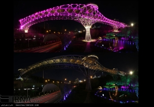 Nature Bridge (Pol-e Tabiat) in Tehran, Iran - Earth Hour 2016 - Photo credit: IRNA