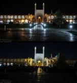 Naqsh-e Jahan Square (Shah Mosque) in Isfahan, Iran - Earth Hour 2016 - Photo credit: IRNA