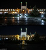 Naqsh-e Jahan Square (Shah Mosque) in Isfahan, Iran - Earth Hour 2016 - Photo credit: IRNA