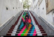 """Baharestan"" - Urban art event to welcome spring in Tehran, Iran - Photo credit: Amir Kholousi / ISNA"