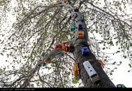"""Baharestan"" - Urban art event to welcome spring in Tehran, Iran - Photo credit: IRNA"