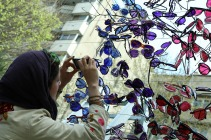 """Baharestan"" - Urban art event to welcome spring in Tehran, Iran - Photo credit: zibasazi.ir"